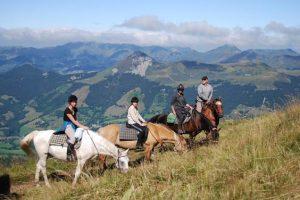 Randonnée à cheval ado en Auvergne 14-17 ans