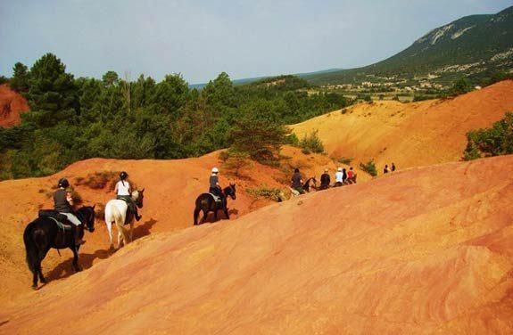 randonnee equestre luberon colorado provencal | Destinations Cheval