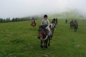 Stage equitation ado et randonnée dans les Pyrénées 13-17 ans