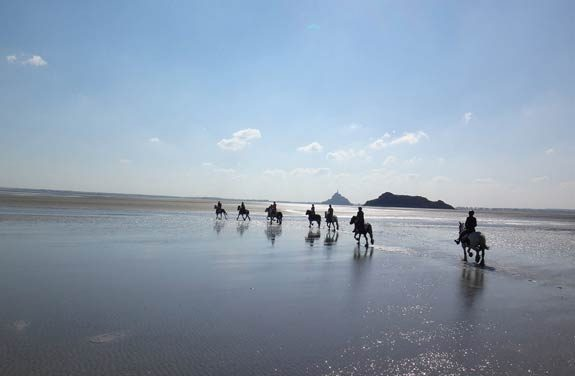 weekend cheval plage mont saint michel | Destinations Cheval