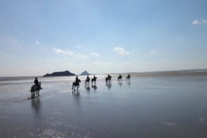 Weekend cheval plage et Mont Saint Michel