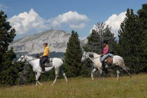 Week-end randonnée à cheval, massif du  Vercors