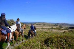 Stage d'initiation à la randonnée à cheval en Bretagne
