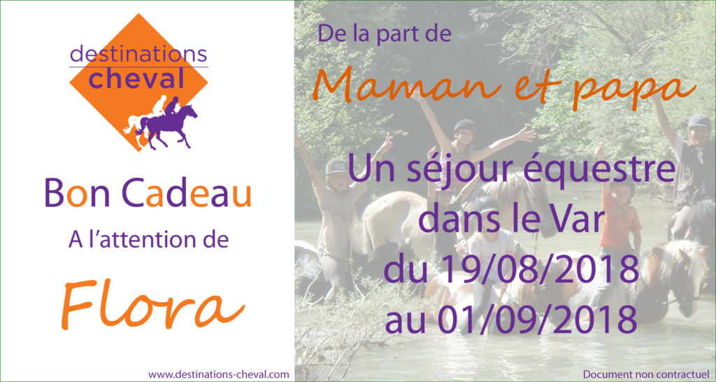 bon cadeau Destinations Cheval