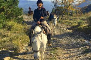 Rando cheval week end dans les Alpes