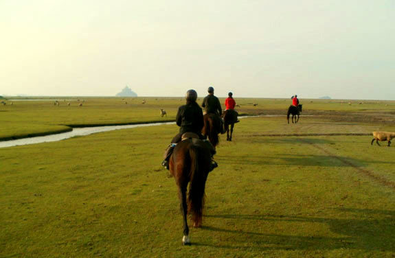 balade cheval mont saint michel | Destinations Cheval