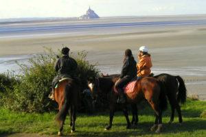 Balade à cheval autour de la baie du Mont Saint Michel