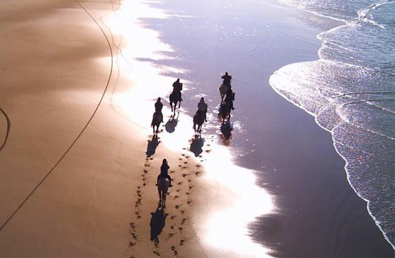 balade cheval à cheval océan atlantique