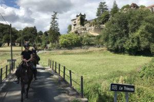 Randonnée à cheval dans le Périgord