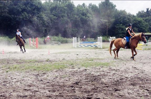 stage d'équitation et cours d'anglais